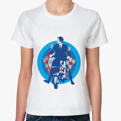 Классическая футболка ' скутер'
