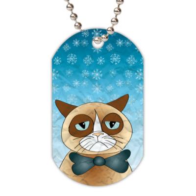 Жетон dog-tag  Кот и снег