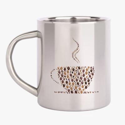 Кружка металлическая Кофе из кофейных зерен