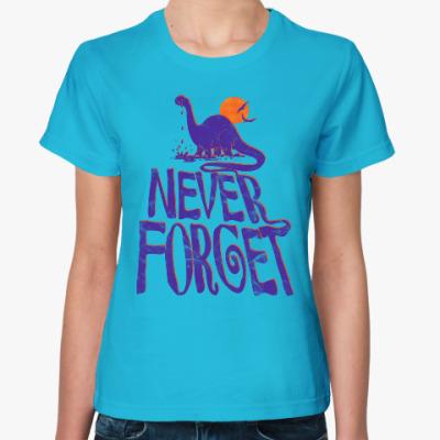 Женская футболка Помни динозавров