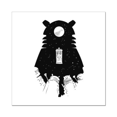 Наклейка (стикер) Доктор Кто