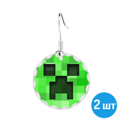Серьги Minecraft Creeper