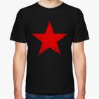 Классическая футболка Потертая Красная Звезда