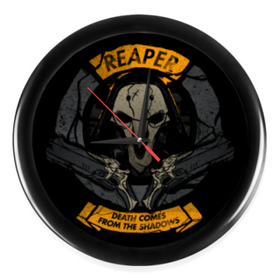 Настенные часы Overwatch Reaper Gabriel Reyes