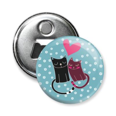 Магнит-открывашка Милые котики