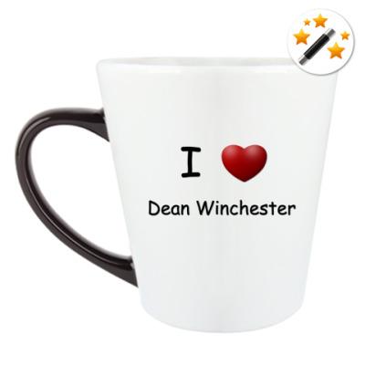 Кружка-хамелеон I Love Dean Winchester