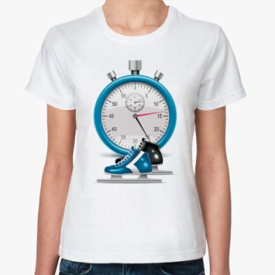 Классическая футболка Коньки и секундомер