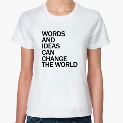 Классическая футболка WORDS AND IDEAS