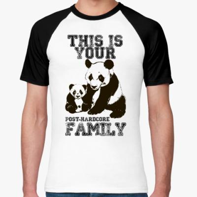 Футболка реглан Panda family