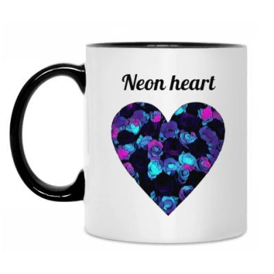 Кружка Неоновое сердце