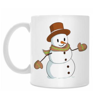 Кружка Стильный Снеговик