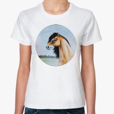Классическая футболка Дикая лошадь