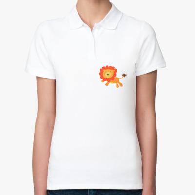 Женская рубашка поло Царь Зверей