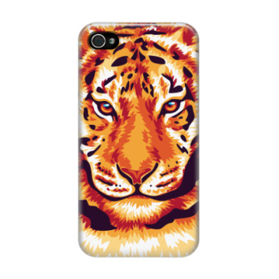 Чехол для iPhone 4/4s Тигр