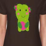 Девочка кактус  сердечком  в лапках