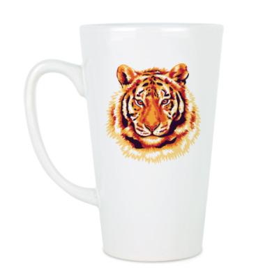 Чашка Латте Тигр