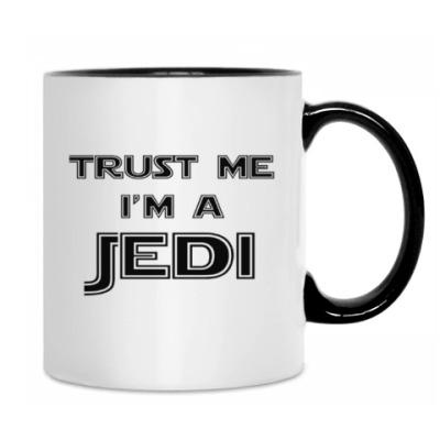 Кружка бел/чёрн Trust me, I'm a Jedi