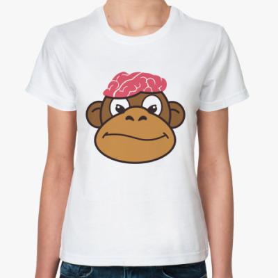 Классическая футболка  Обезьяньи мозги