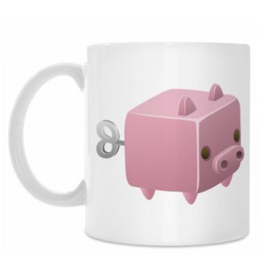 Кружка Заводная игрушка: Свинья