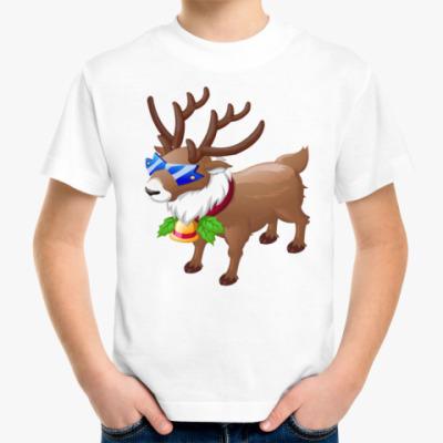 Детская футболка Кульный Олень Санты