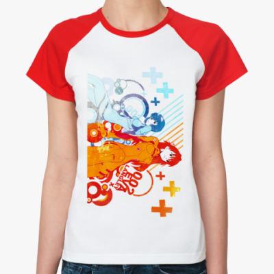 Женская футболка реглан Rei & Asuka