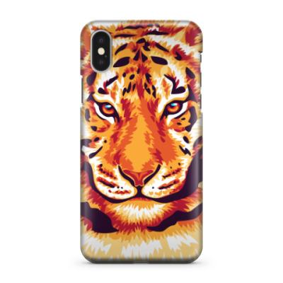 Чехол для iPhone X Тигр