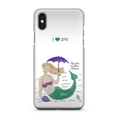 Чехол для iPhone X Петербургская русалка