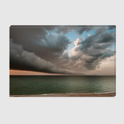 Холст Трубчатые облака на закате