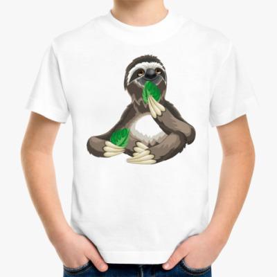 Детская футболка Ленивец