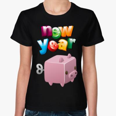 Женская футболка Новый Год: Год Свиньи