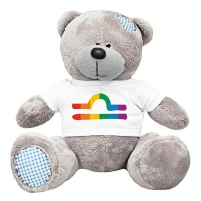 Плюшевый мишка Тедди Радужные весы