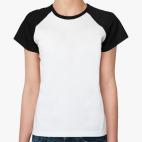 Женская футболка реглан