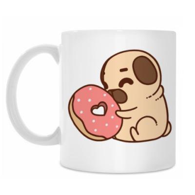 Кружка Мопс и Пончик