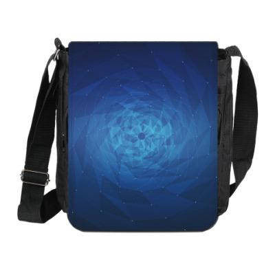 Сумка на плечо (мини-планшет) Воронка полигонов