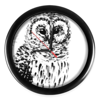 Настенные часы Сова на сосне