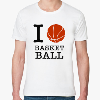 Футболка из органик-хлопка I love basketball