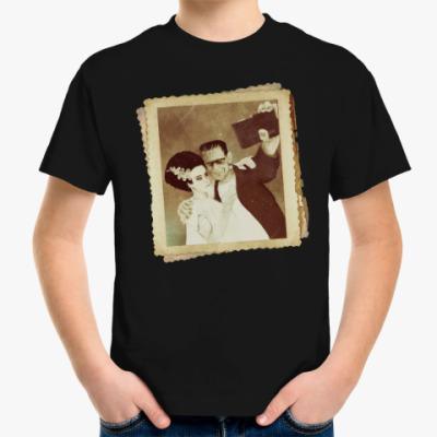 Детская футболка Монстр Франкенштейна и невеста