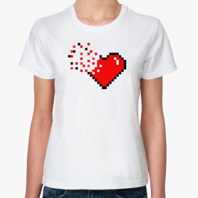 Классическая футболка Pixel Broken Heart (сердце)