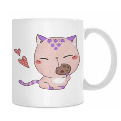 Котенок и печенька
