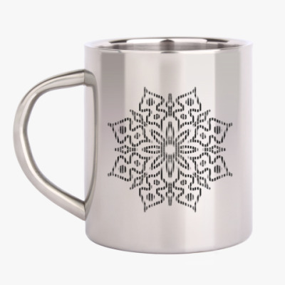 Кружка металлическая Снежинка