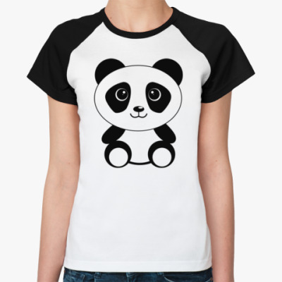 Женская футболка реглан PANDA BABY