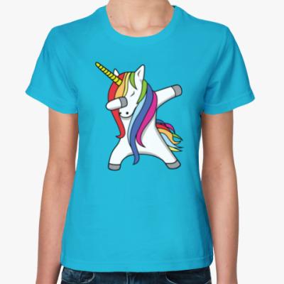 Женская футболка Единорог Дэб