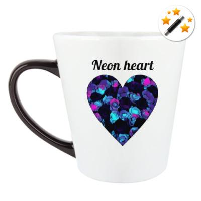 Кружка-хамелеон Неоновое сердце