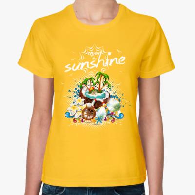 Женская футболка Летний отпуск