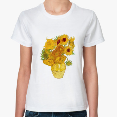 Классическая футболка Подсолнухи Ван Гога для Эми