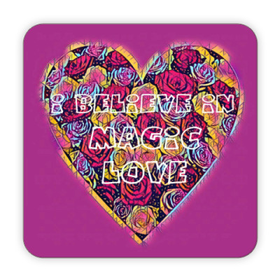 Костер (подставка под кружку) I believe in magic love