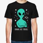 Классическая футболка Люди ужасны!