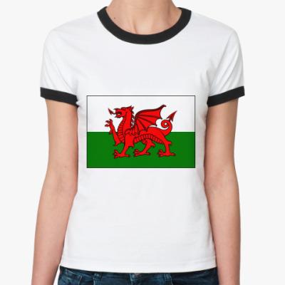 Женская футболка Ringer-T  Wales!