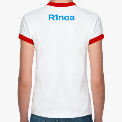 Футболка Ringer-T женская, бел/красн