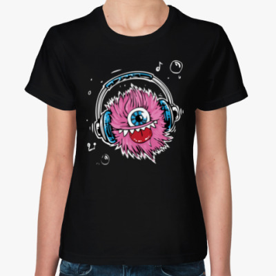 Женская футболка Music Monster